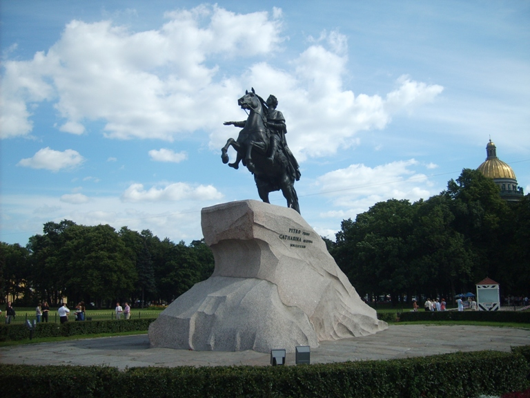 Photo of the bronze horseman, St. Petersburg