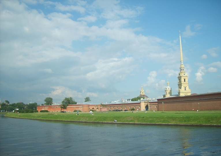 The photo. Peter and Paul Fortress on the part of the Petrograd Side.