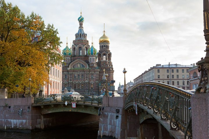 The photo. Savior on the Blood, the early autumn in St. Petersburg.